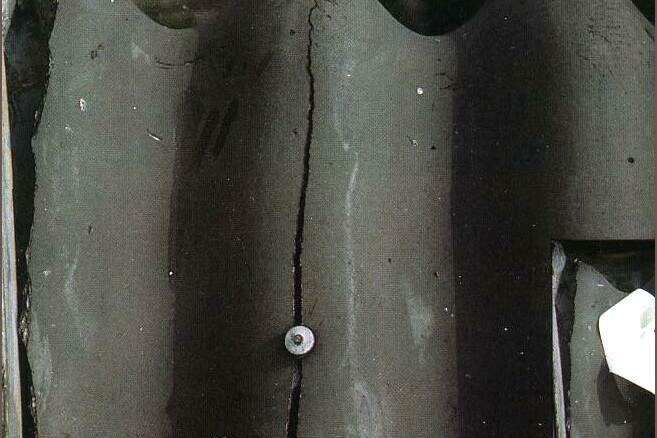продольные трещины на шифере