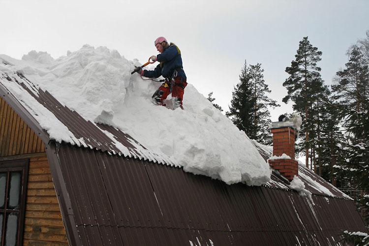профессиональная чистка крыши