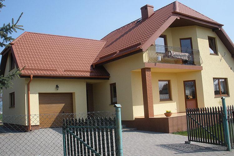 светло-коричневая крыша