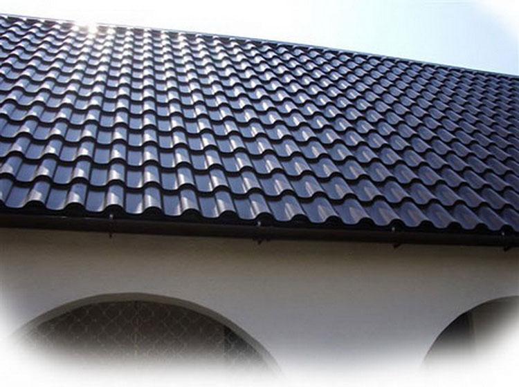вид крыши с металлочерепицей Даймонд