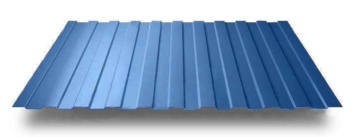 Профиль синего цвета