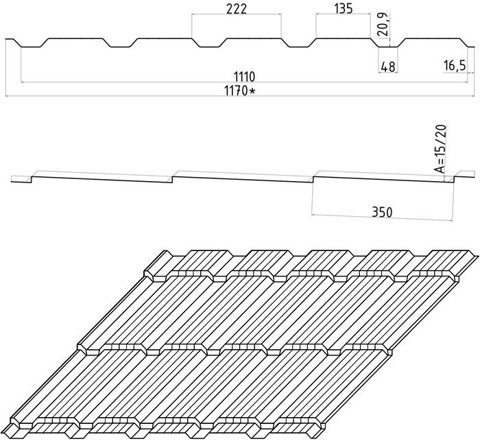 Размеры волны Каскад