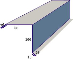 Стандартные размеры карнизной планки