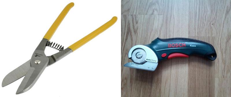 Обычные и электрические ножницы по металлу