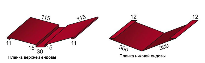 Верхняя и нижняя планки ендовы