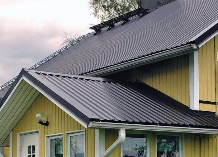 Крыша с небольшим уклоном